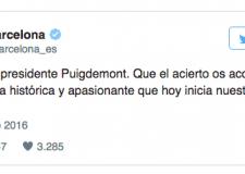 El Barça y su polémico tuit